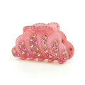 Hair Jewelry Sparkly Crystal Rhinestone Hair Clip Claw Clamp - Pink