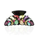 Luxury Hair Jewelry 3D Rhinestone Crystal Hair Clip Claw Clamp - Multicolor