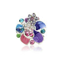Sparkly Crystal Flower Metal Rhinestone Hair Clip Claw Clamp - Multicolor