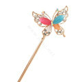 Butterfly Rhinestone Crystal Hairpin Hair Clasp Clip Fork Stick - Multicolor