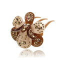 Elegant Hair Jewelry Crystal Rhinestone Flower Hair Pin Comb Clip - Champagne