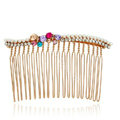 Hair Jewelry Crystal Rhinestone Butterfly Metal Hair Pin Comb Clip - Multicolor