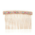 Hair Jewelry Crystal Rhinestone Metal Hair Pin Comb Clip - Multicolor