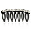 Hair Jewelry Crystal Rhinestone Resin Hair Pin Comb Clip - Black