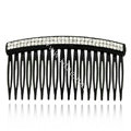 Hair Jewelry Crystal Rhinestone Small Resin Hair Pin Comb Clip - Black