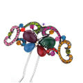 Retro HairPin Crystal Rhinestone Butterfly Hair Comb Clip Fork Stick - Multicolor