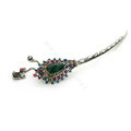 Retro Tassel Crystal Rhinestone Hairpin Hair Clasp Clip Fork Stick - Multicolor