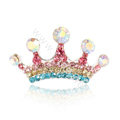 Mini Crown Hair Accessories Alloy Crystal Rhinestone Hair Pin Clip Combs - Multicolor