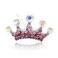 Mini Crown Hair Accessories Alloy Crystal Rhinestone Hair Pin Clip Combs - Purple