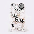Alloy Zebra Bowknot Rhinestone Crystal DIY Cell Phone Case Cover Deco Den Kits