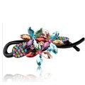 Crystal Rhinestone Flower Twist Hair Clip Slide Clamp Hair Accessories - Multicolor