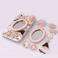 White Pearl Mirror Flower Rhinestone Crystal DIY Cell Phone Case Cover Deco Den Kits