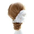 Wedding Bride Jewelry Crystal Hairpin Lace Headband Headpiece Flower Hair Accessories