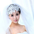 Wedding Bride Jewelry Crystal Lace Pearl Headband Headpiece Flowers Hair Accessories