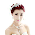 Wedding Bride Jewelry Crystal Pearl Hairpin Lace Headband Headpiece Flower Hair Accessories