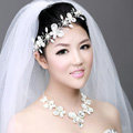 Wedding Bride Jewelry Crystal Pearl Headband Headpiece Butterfly Hair Accessories