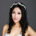 Wedding Bride Jewelry Crystal Pearl Headpiece Headband Butterfly Hair Accessories