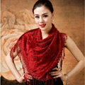 Autumn and Winter Mink Cashmere wool Scarf Shawl Woman Neck Wrap tippet - Red