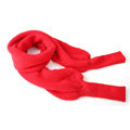 Fashion Unisex Long Wool knitted capes warm scarf shawls Neck Wrap tippet with sleeves - Red