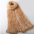 Fashion Women soft feather yarn knitted scarf shawls warm Neck Wrap tippet - Apricot