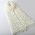 Fashion Women soft feather yarn knitted scarf shawls warm Neck Wrap tippet - Ivory