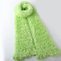 Fashion Women soft feather yarn knitted scarf shawls warm Neck Wrap tippet - Light green