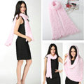 Fashion Women soft feather yarn knitted scarf shawls warm Neck Wrap tippet - Pink