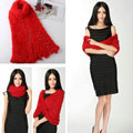 Fashion Women soft feather yarn knitted scarf shawls warm Neck Wrap tippet - Red