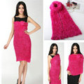Fashion Women soft feather yarn knitted scarf shawls warm Neck Wrap tippet - Rose