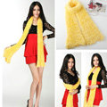Fashion Women soft feather yarn knitted scarf shawls warm Neck Wrap tippet - Yellow