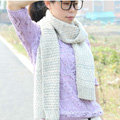 Woman Winter knitting Thicken long Wool Scarf Shawl Unisex Neck Warmer - Gray