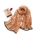 Fashion organza long scarf shawl women warm silk diamond wrap scarves - Khaki