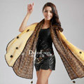 High-end Fashion long scarf shawl women warm lace chiffon wrap scarves - Yellow