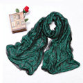 High-end Fashion long scarf shawl women warm silk lace wrap scarves - Green