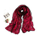 High-end Fashion long scarf shawl women warm silk lace wrap scarves - Rose
