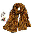 High-end Fashion long scarf shawl women warm silk lace wrap scarves - Yellow