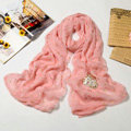 High end fashion long silk skull scarf shawl women warm wrap scarves - Pink
