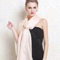 Luxury women autumn and winter long 100% mulberry silk solid color scarf shawl wrap - Pink