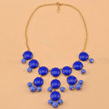 High-end fashion women choker sweet exaggeration luxury candy bib necklace - Blue
