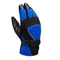Allfond Man winter warm outdoor sport windproof ski motorcycle riding buckle leather Gloves - Blue black