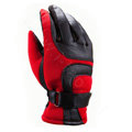 Allfond Man winter warm outdoor sport windproof ski motorcycle riding buckle leather Gloves - Red