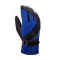 Allfond Women winter warm outdoor sport windproof ski motorcycle riding buckle Gloves - Blue