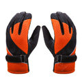 Allfond Women winter warm outdoor sport windproof ski motorcycle riding buckle Gloves - Orange
