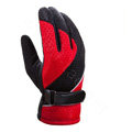 Allfond Women winter warm outdoor sport windproof ski motorcycle riding buckle Gloves - Red