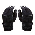 Allfond men winter thermal outdoor sport cold-proof ski motorcycle riding leather Gloves - Black