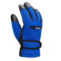 Allfond men winter thermal outdoor sport cold-proof ski motorcycle riding leather Gloves - Blue