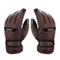 Allfond men winter thermal outdoor sport cold-proof ski motorcycle riding leather Gloves - Brown