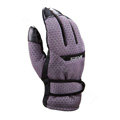 Allfond men winter thermal outdoor sport cold-proof ski motorcycle riding leather Gloves - Purple