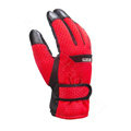 Allfond men winter thermal outdoor sport cold-proof ski motorcycle riding leather Gloves - Red