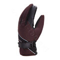 Allfond men winter thermal outdoor sport cold-proof ski motorcycle riding velvet leather Gloves - Coffee